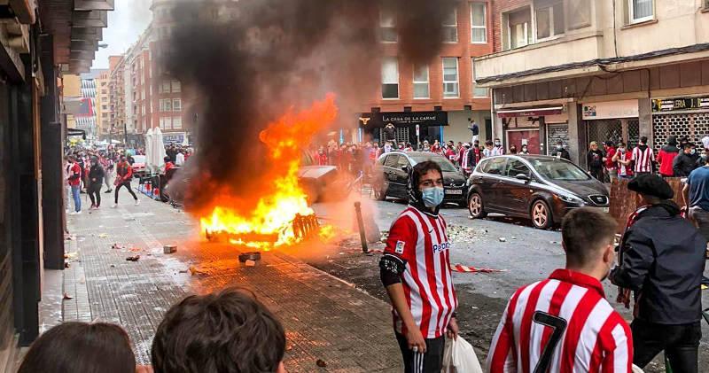 Disturbios en Bilbao