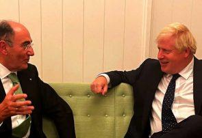 Ignacio Sánchez Galán y Boris Johnson